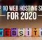 Top 10 Web Hosting Sites for 2020